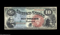 Large Size:Legal Tender Notes, Fr. 96 $10 1869 Legal Tender Choice New. A lovely example of aRainbow Ten, with color as good as we've ever seen for this t...