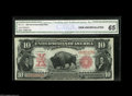 Large Size:Legal Tender Notes, Fr. 114 $10 1901 Legal Tender CGA Gem Uncirculated 65. A prettyBison with broad margins and bold original embossing that is...
