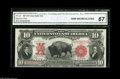 Large Size:Legal Tender Notes, Fr. 122 $10 1901 Legal Tender CGA Gem Uncirculated 67. Abeautifully bright, well margined Bison that is likely to attractc...