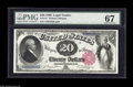 Large Size:Legal Tender Notes, Fr. 141 $20 1880 Legal Tender PMG Superb Gem Unc 67. A gorgeous Fr.141 that certainly appears to have earned its very high ...