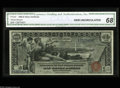 Large Size:Silver Certificates, Fr. 224 $1 1896 Silver Certificate CGA Gem Uncirculated 68. Anabsolutely super-looking $1 Ed with boardwalk margins all the...