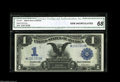 Large Size:Silver Certificates, Fr. 230 $1 1899 Silver Certificate Star Note CGA Gem Uncirculated 68. Only 25 examples of Fr. 230 Stars are listed in the Mu...