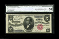 Large Size:Silver Certificates, Fr. 245 $2 1891 Silver Certificate CGA Gem Uncirculated 68. Thissplendid Windom Deuce has cavernously deep, original emboss...