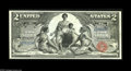 Large Size:Silver Certificates, Fr. 247 $2 1896 Silver Certificate Gem New. A crackling-fresh $2 Ed with amazingly deep original embossing for the type and ...