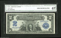 Large Size:Silver Certificates, Fr. 251 $2 1899 Silver Certificate CGA Gem Uncirculated 67. Embossing can even be detected through the CGA Gem Uncirculated ...