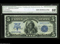 Large Size:Silver Certificates, Fr. 271 $5 1899 Silver Certificate CGA Gem Uncirculated 68. Theregal G.F.C. Smillie portrait of Ta-to-ka-in-yan-ka, also kn...