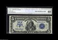 Large Size:Silver Certificates, Fr. 273 $5 1899 Silver Certificate CGA Gem Uncirculated 65. The original embossing on this well-margined Chief is extremely ...