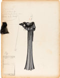 Movie/TV Memorabilia:Costumes, A Milo Anderson Collection of Costume Design Sketches from MostlyUnknown Films, 1930s....