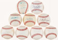 Autographs:Baseballs, Baseball Greats Single/Multi Signed Baseballs Lot of Nine.. ...