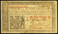 Colonial Notes:New Jersey, New Jersey March 25, 1776 1s Fine-Very Fine.. ...