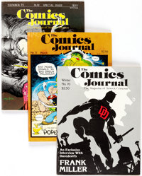 The Comics Journal Group of 62 (Fantagraphics Books, 1982-89) Condition: Average VF.... (Total: 62 Comic Books)