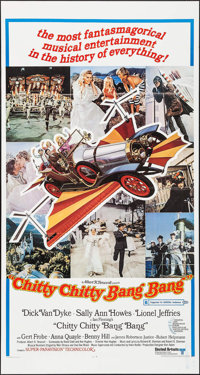 "Chitty Chitty Bang Bang (United Artists, 1969). Three Sheet (41"" X 77""). Fantasy"