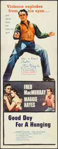 "Movie Posters:Western, Good Day for a Hanging (Columbia, 1959). Autographed Insert (14"" X 36""). Western.. ..."
