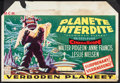 """Movie Posters:Science Fiction, Forbidden Planet (MGM, 1956). Belgian (15"""" X 20.5""""). ScienceFiction.. ..."""