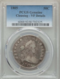 Early Half Dollars: , 1805 50C -- Cleaning -- PCGS Genuine. VF Details. NGC Census:(18/205). PCGS Population: (51/413). CDN: $600 Whsle. Bid for...
