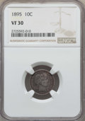 Barber Dimes: , 1895 10C VF30 NGC. NGC Census: (5/121). PCGS Population: (10/202).Mintage 690,000. ...