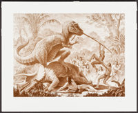 """Valley of the Mists by Ray Harryhausen (Dark Horse, 1993). Signed & Numbered Limited Edition Print (18.75"""" X 23..."""