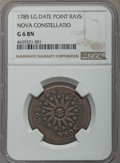 1785 Nova Constellatio Copper, Pointed Rays, Large Date, Good 6 NGC. NGC Census: (6/116). PCGS Population: (0/330)....(P...