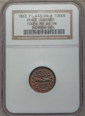 Civil War Patriotics, 1863 Peace Forever, F-418/26 A, MS64 Brown NGC. This lot will alsoinclude a: 1863 Army & Navy, F-233/312 a, MS64 Brown NG...(Total: 2 coins)
