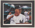 """Autographs:Photos, Mickey Mantle Signed """"Mickey at Night"""" Print.. ..."""