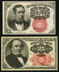 Fractional Currency:Fifth Issue, Fr. 1266 10¢ Fifth Issue About New;. Fr. 1308 25¢ Fifth Issue Extremely Fine.. ... (Total: 2 notes)