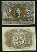 Fractional Currency:Second Issue, Fr. 1283SP 25¢ Second Issue Narrow Margin Pair.. ... (Total: 2 notes)
