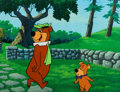 Animation Art:Production Cel, Yogi Bear and Boo-Boo Production Cel (Hanna-Barbera, c. 1970s-80s)....
