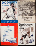 Baseball Collectibles:Programs, 1950-57 Brooklyn Dodgers Yearbook Lot of 7.. ...