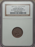 Civil War Patriotics, 1863 Indian - Crossed Cannons, F-82/352A A, MS64 Brown NGC. Ex:Bowers Reference Set. This will also include a: 1863 ... (Total: 2coins)