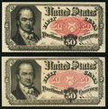 Fractional Currency:Fifth Issue, Two Fr. 1380 50¢ Fifth Issue Notes Choice About New or Better.. ...(Total: 2 notes)