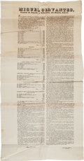 Miscellaneous:Broadside, Miguel Cervantes Oversized Broadside Announcing the Establishmentof General Commissioners Throughout Mexico. ...