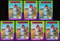 Baseball Cards:Lots, 1975 Topps George Brett Rookie Card Collection (7).. ...
