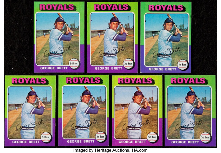 1975 Topps George Brett Rookie Card Collection 7