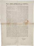 Miscellaneous, Broadside Announcing Decree Regarding the Marking of theSouthwestern Boundaries of the Louisiana Purchase. ...