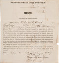 Miscellaneous, Vermont Texas Land Company Stock Certificate....