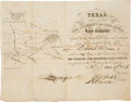 Miscellaneous, [Texas]. Colorado and Red River Land Company Stock Certificate....