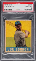 Baseball Cards:Singles (1940-1949), 1948 Leaf Joe Gordon #117 PSA NM-MT 8....