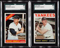 Baseball Cards:Lots, 1964 Topps & 1966 Topps Mickey Mantle SGC Graded Pair (2).. ...