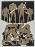 Fine Art - Work on Paper:Print, Cleon Peterson (b. 1973). The Genocide (white and blackeditions) (two works), 2016. Screenprints in colors on Coventry ...(Total: 2 Items)