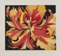 Prints & Multiples, Lowell Nesbitt (1933-1993). Red and Yellow Parrot Tulips, 1980. Screenprint in colors on paper. 24-1/2 x 28 inches (62.2...