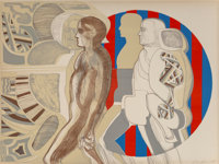 Arnold Belkin (1930-1992) Untitled 3, 1969 Lithograph in colors on Arches paper 22-1/2 x 30 inche