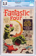 Silver Age (1956-1969):Superhero, Fantastic Four #1 (Marvel, 1961) CGC GD+ 2.5 White pages....