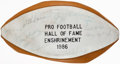 Autographs:Footballs, 1986 Football Hall of Fame Enshrinement Multi-Signed Football. Including Jim Brown, Paul Hornung and others.. ...