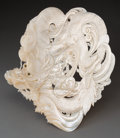 Asian:Japanese, A Japanese Carved Mother-of-Pearl Shell with Dragon Motif. 10-1/2inches wide (26.7 cm). ...