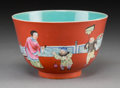 Asian:Chinese, A Chinese Famille Rose Enameled Porcelain Bowl. Marks: Six-character Jiaqing mark, 19th Century. 3-1/8 inches high x 5 inche...