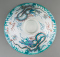 Asian:Chinese, A Chinese Porcelain Bowl Cover with Dragon Motif, Qing Dynasty. 3inches high x 8-1/2 inches diameter (7.6 x 21.6 cm). ...