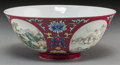 Asian:Chinese, A Chinese Imperial Famille Rose Scraffiato Enameled Porcelain Bowl,Qing Dynasty, Daoguang Period, circa 1821-1850. Marks: S...