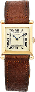 Estate Jewelry:Watches, Cartier Lady's Gold Tank Obus Watch, French. ...