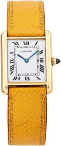 Estate Jewelry:Watches, Cartier Lady's Gold Tank Watch. ...