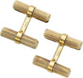 Estate Jewelry:Cufflinks, Gold Cuff Links, Van Cleef & Arpels, French. ...